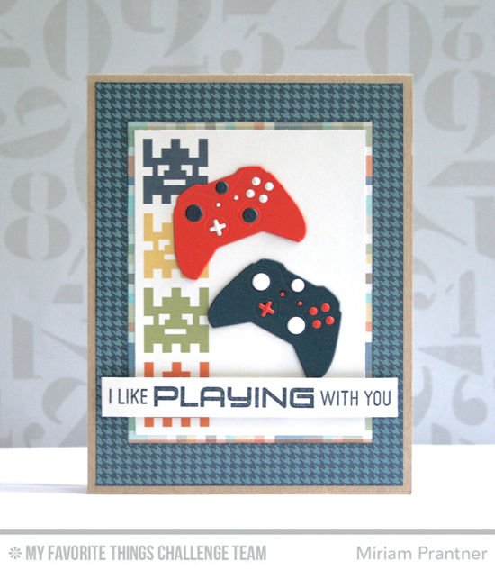 I Like Playing with You Card by Miriam Prantner featuring the Level Up stamp set and Game Controller Die-namics