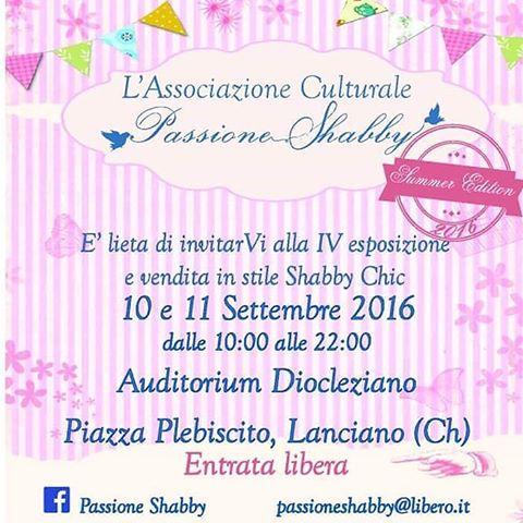 Passione Shabby Lanciano 10-11 Settembre 2016