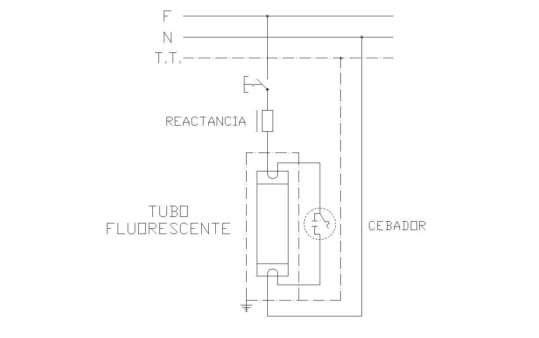 Circuito General : Tubos fluorescentes. elementos del circuito de arranque. u.p.