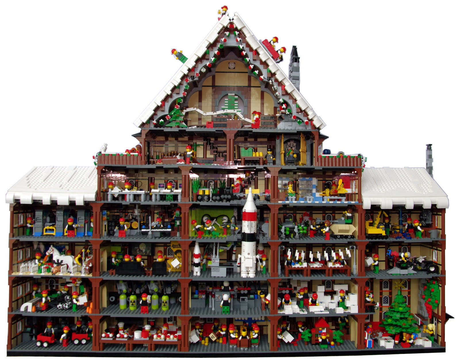 lego christmas house instructions