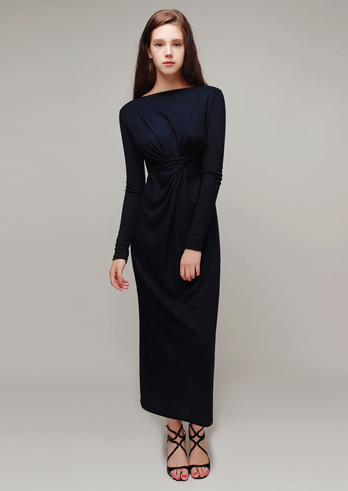 Knot Front Maxi Long Dress