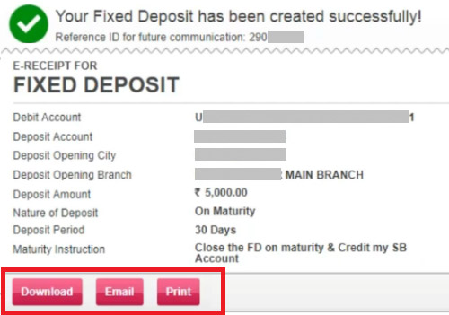 Image result for Opening an FD account