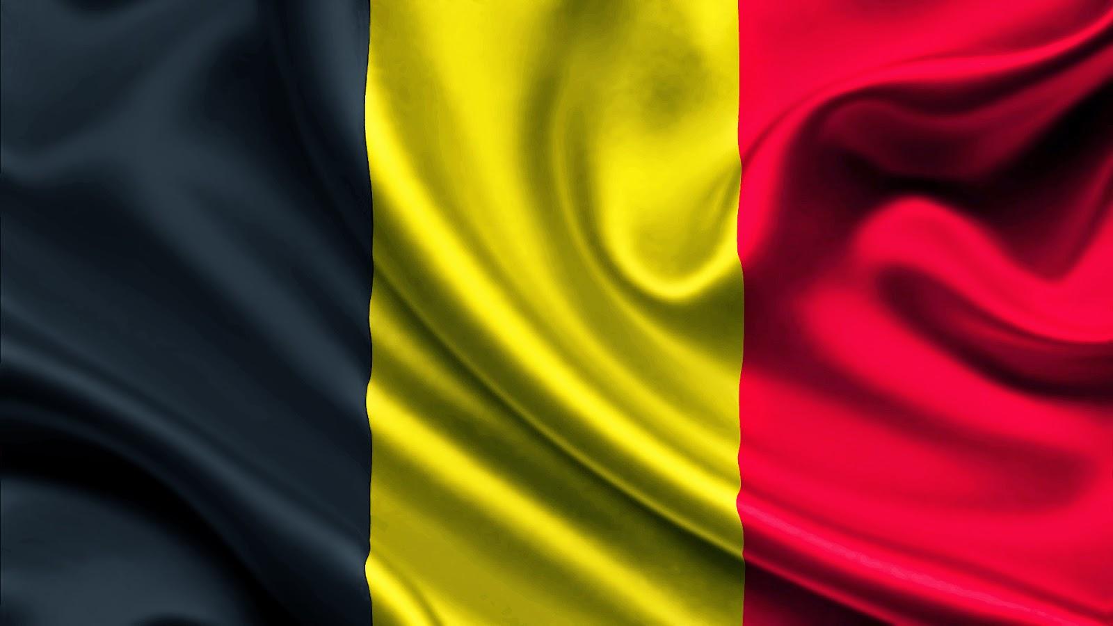 3D vlag van België wallpaper