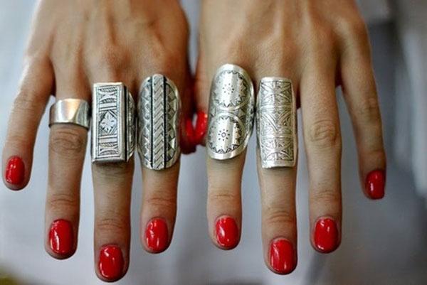 Anelismo - mix de aneis de prata - tendência