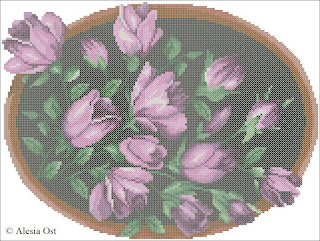 Flowers in wooden frame, floral, flower, frame, cross-stitch, back stitch, cross-stitch scheme, free pattern, x-stitchmagic.blogspot.it, вышивка крестиком, бесплатная схема, punto croce, schemi punto croce gratis, DMC, blocks, symbols
