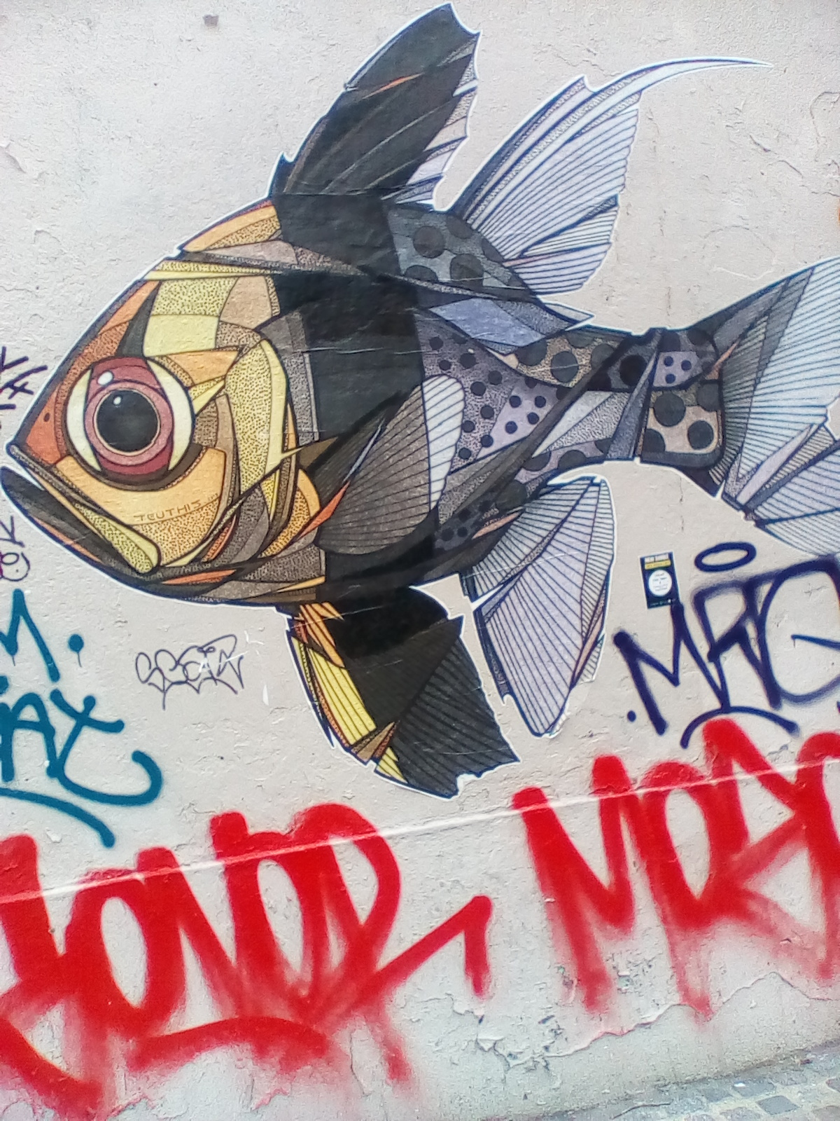 Parisian grafity Beaubourg 19