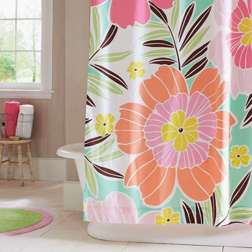 flower shower curtain design