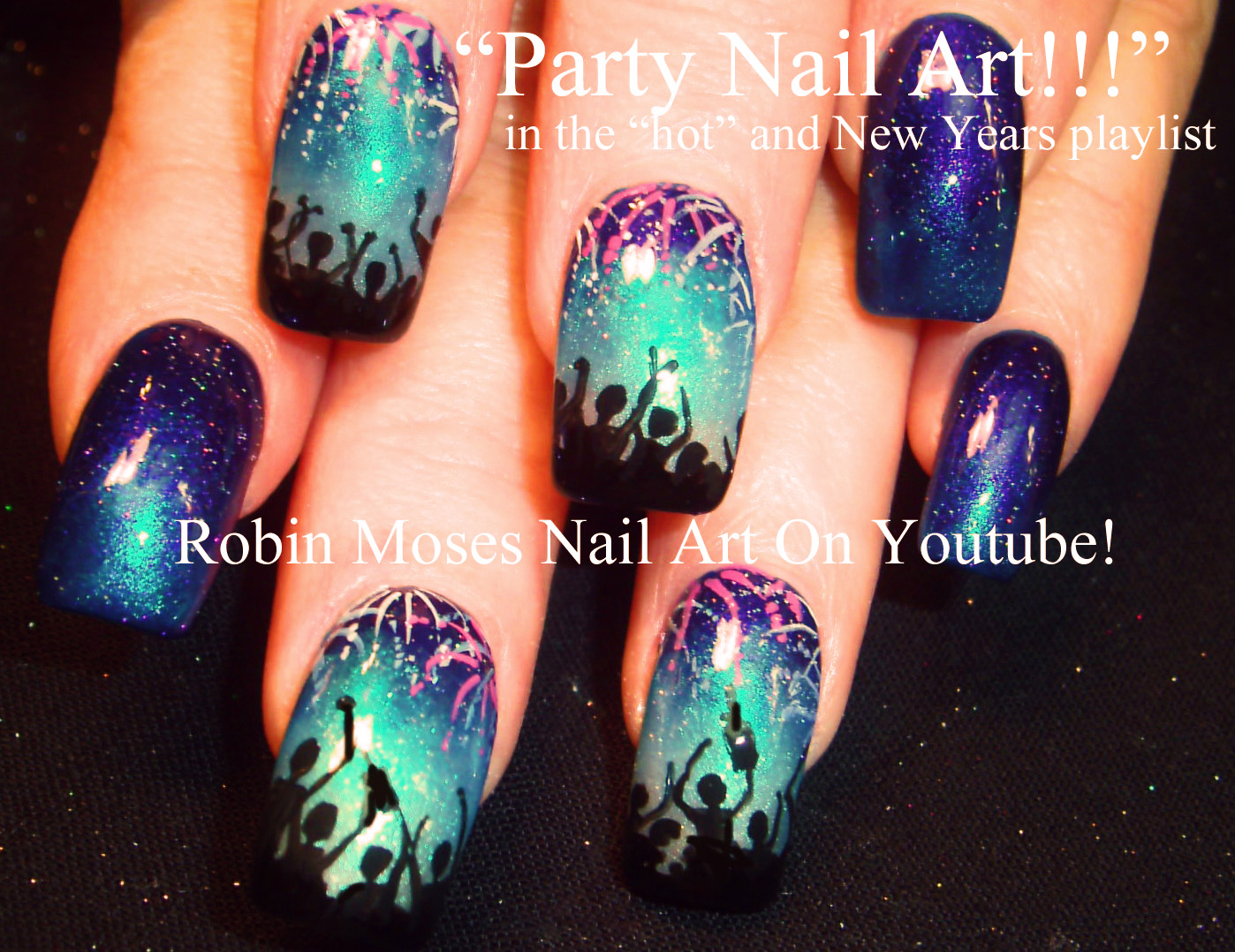 Robin Moses Nail Art Happy New Year 2016 New Years Nails