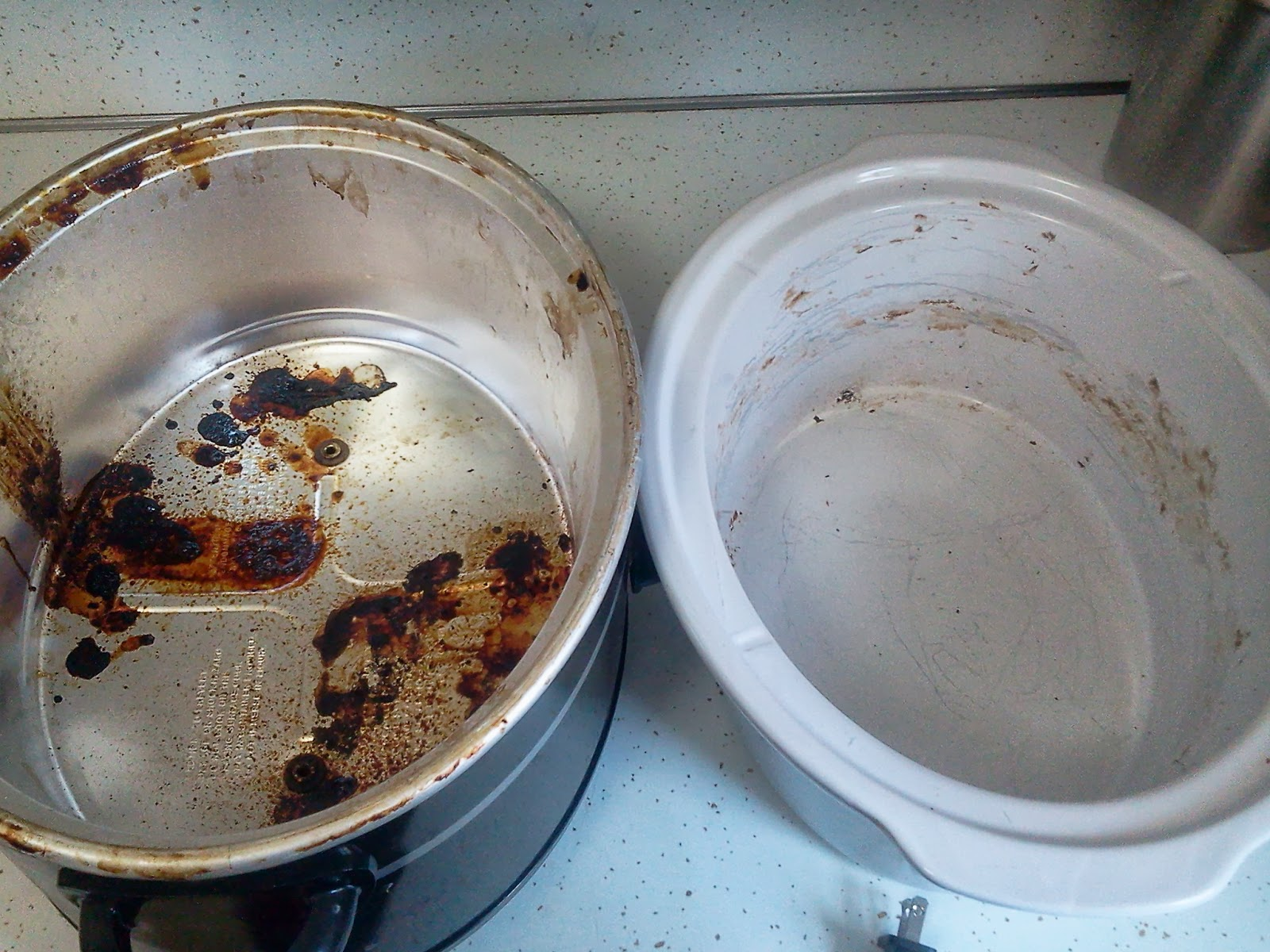 The 5th brick house on the right how to clean your crock pot - Clean burnt pot lessminutes ...