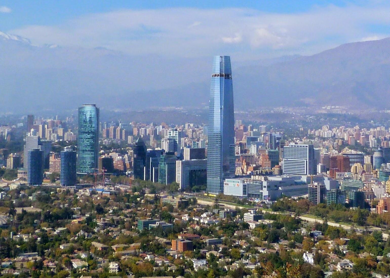Skyline de Saniago de Chile