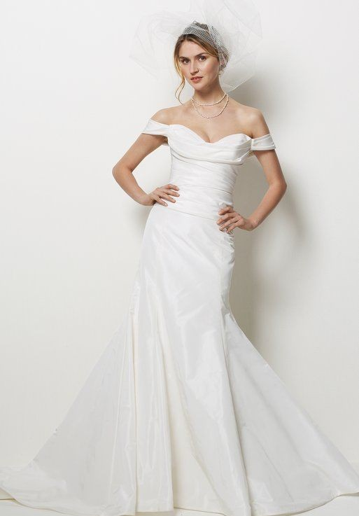 Taffeta Off-the-Shoulder Sweetheart Mermaid Sexy Wedding Dress
