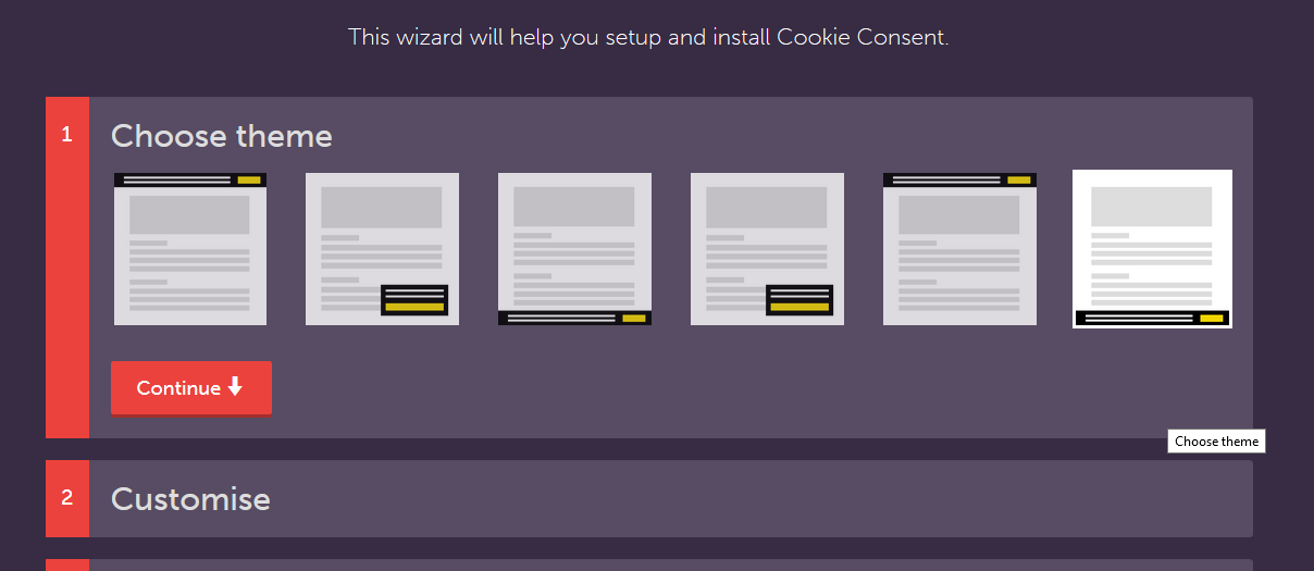 cookie consent widget eu