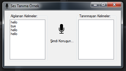C# - Sesle Komut İşleme (Speech Recognition)