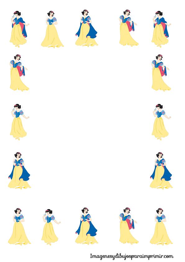 folios de princesas disney de imagenes y dibujos para imprimir