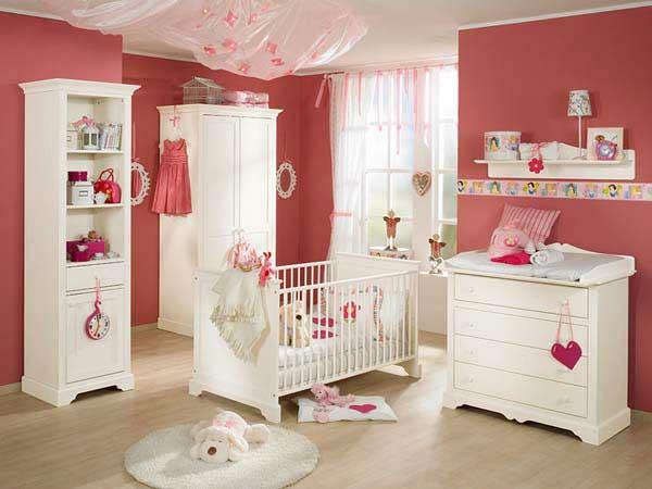 dormitorio beb paredes rosa