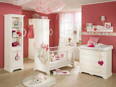 dormitorio bebé paredes rosa