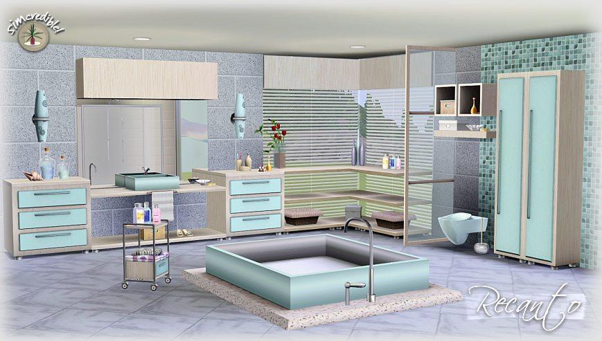 My sims 3 blog recanto bathroom set by simcredible designs for Bathroom ideas sims 3