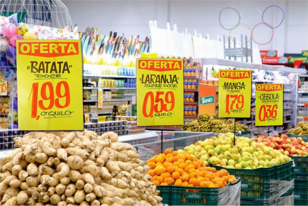 placa de preço de supermercado