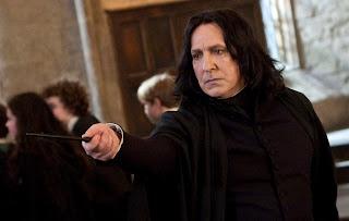Alan Rickman i rollen som professor Snape i Harry Potter filmene
