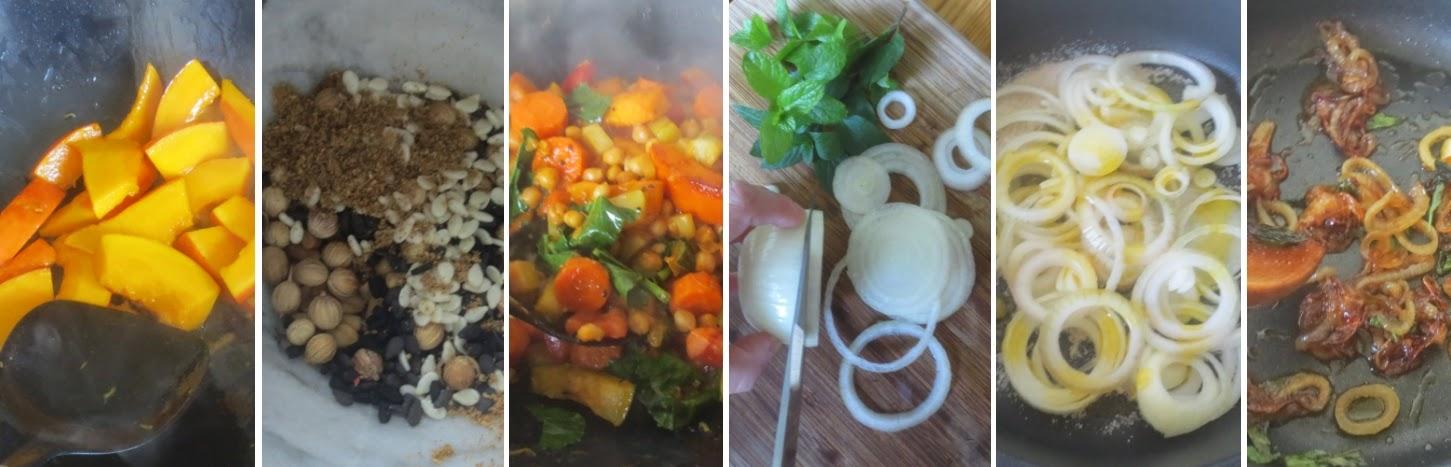 Zubereitung Couscous mit Kichererbsen Schritt für Schritt