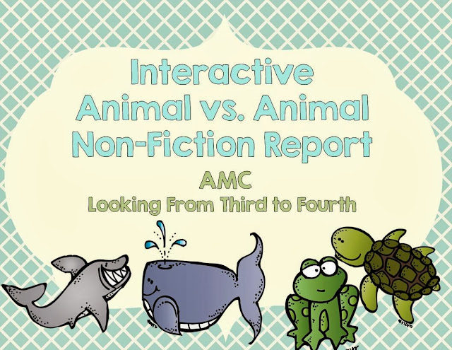http://www.teacherspayteachers.com/Product/Interactive-Non-Fiction-Report-Animal-vs-Animal-1022749