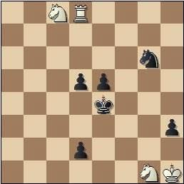 Estudio artístico de ajedrez de Iuri Akobia