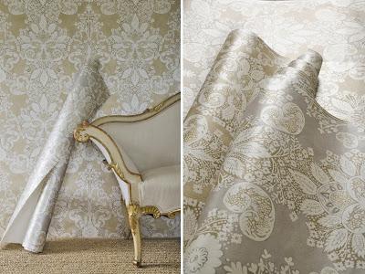 Rococo Metallic Wallpaper – Gilt & Platinum