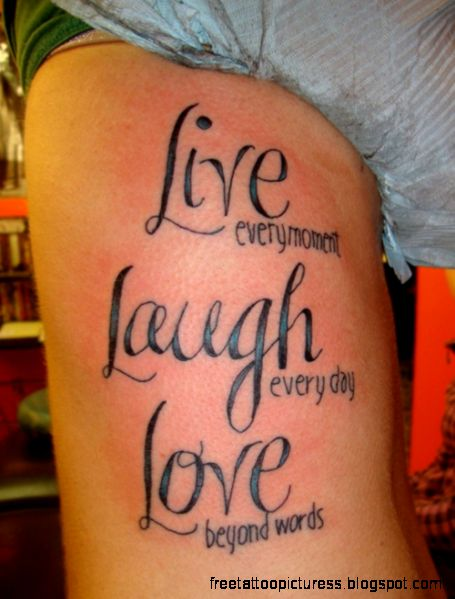 Quotes Tattoo Designs Ideas Pictures Gallery Online  Stylez