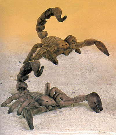 Plush Gray Scorpion Toy