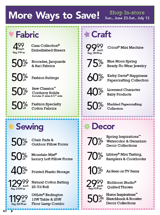 Joann coupons july 2019