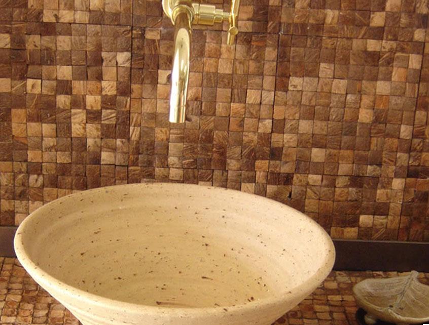 Revestimento é com a Stillos Reveste (11) 28341935 wwwstillosrevestec -> Banheiro Decorado Com Pastilhas Marrom