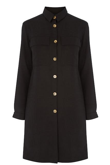 warehouse black shirt dress,