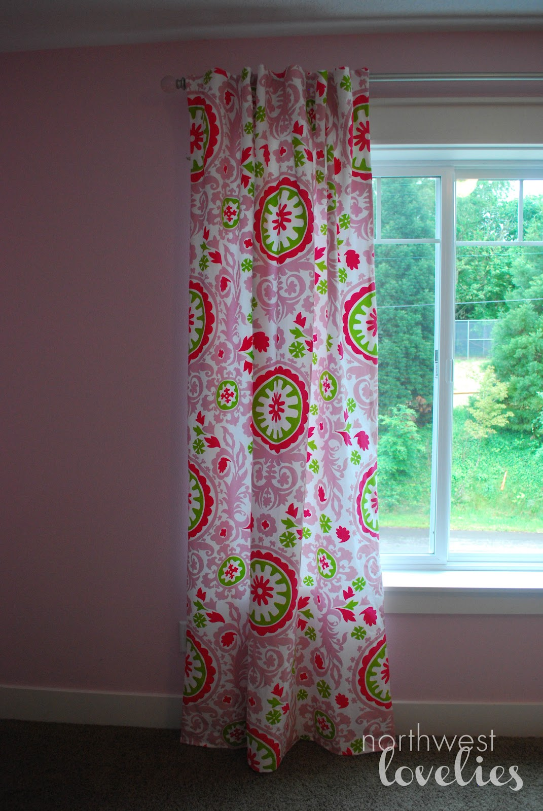 northwest lovelies: Chronicles of a Big Girl Room: Curtains