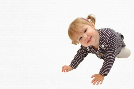 NAMC montessori teaching gratitude crawling girl