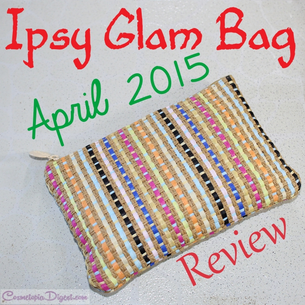 Check out the contents of my April 2015 Ipsy Glam Bag. Featuring a Too Faced Melted lipstick!