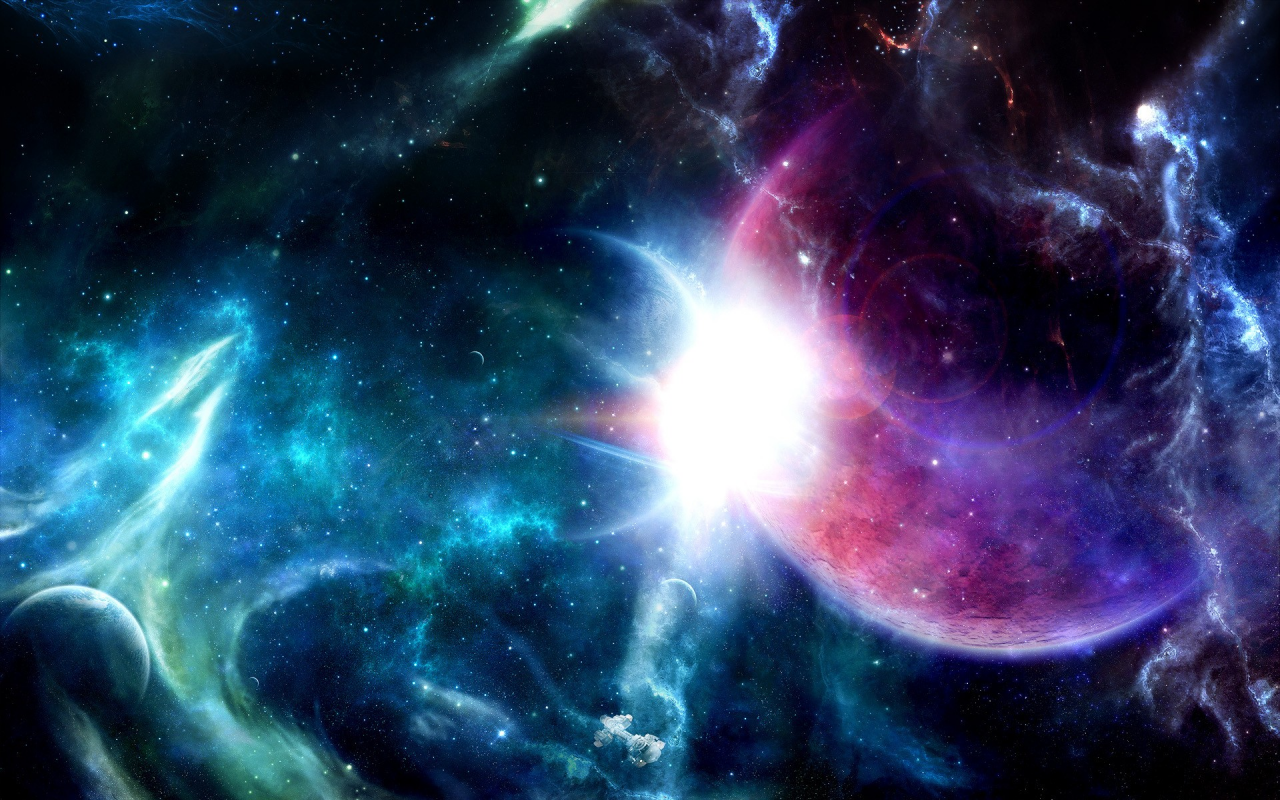 3d wallpapers 3d space scene wallpapers for Outer space scene