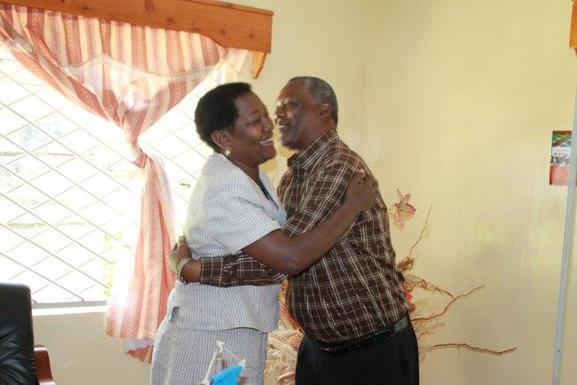 Eva Kleruu na Amani Mwamwindi baada ya kukutana