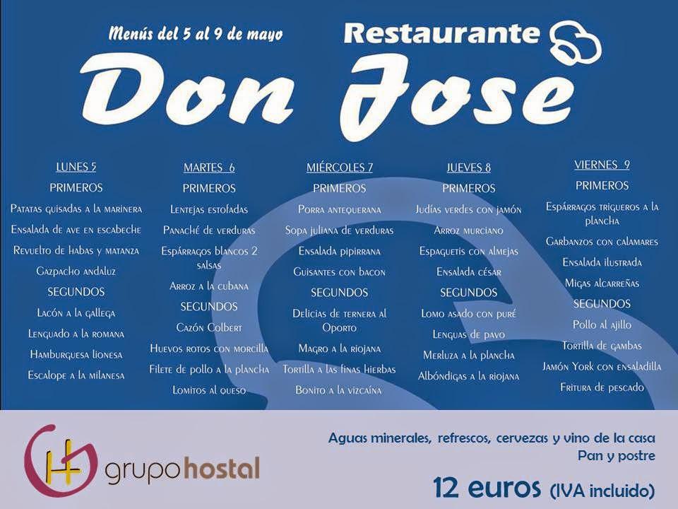 menús del día Torrejón Don José