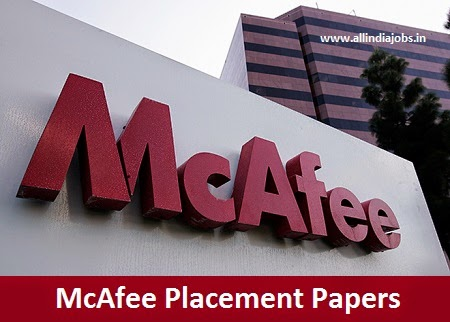 McAfee Placement Papers