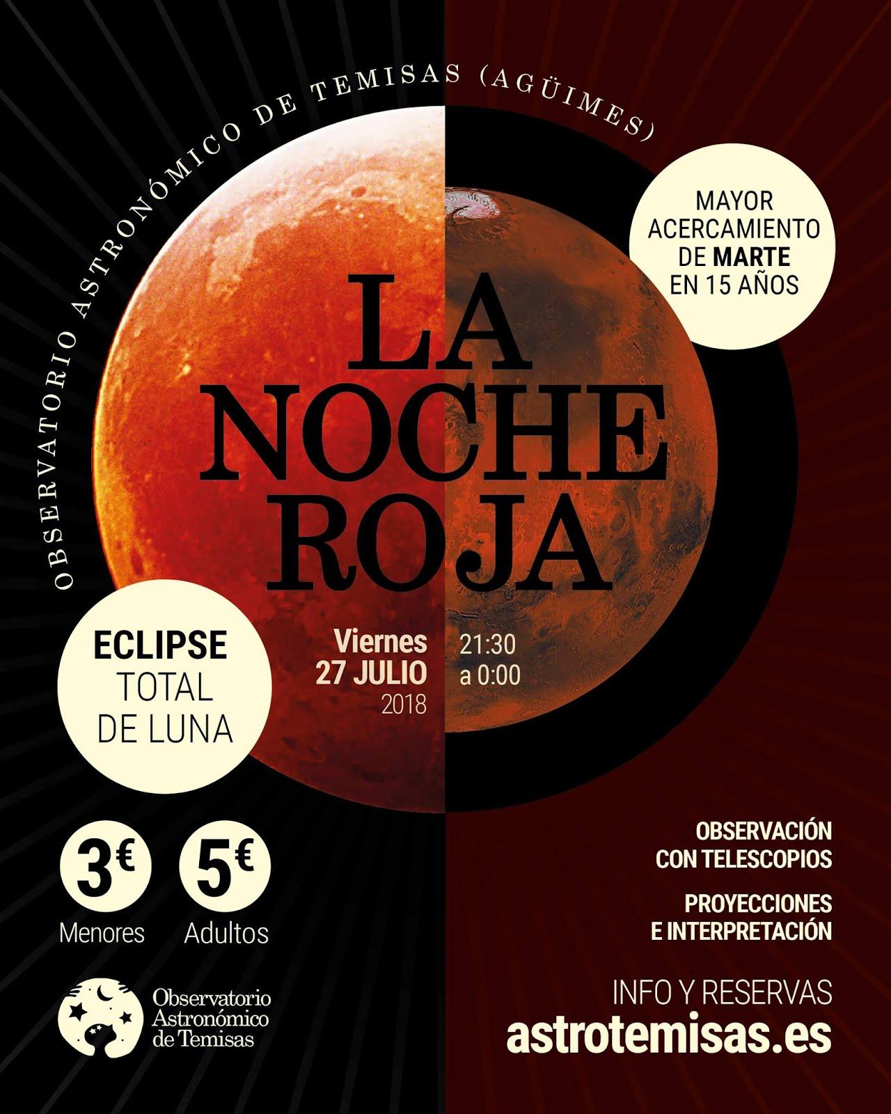 La Noche Roja en el Observatorio Astronómico de Temisas