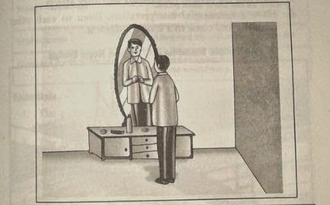 SAMPLE PPDT PICTURE OF A PERSON STANDING IN FRONT OF MIRROR
