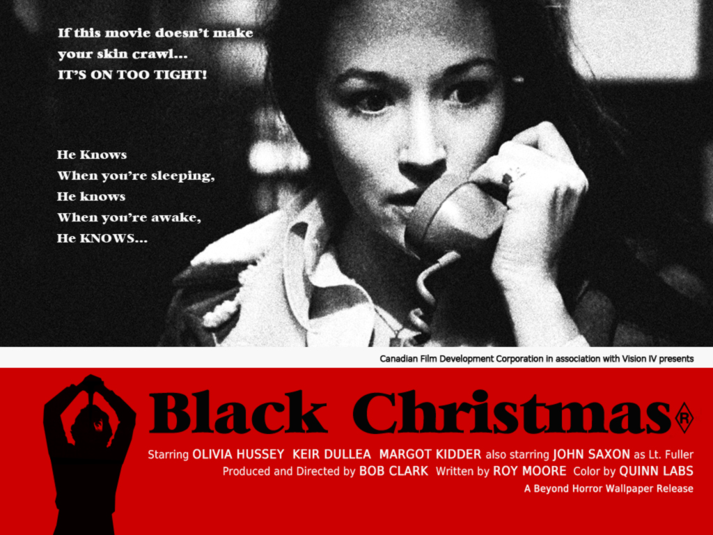 Beyond horror design black christmas bob clark 1974 for Famous black and white christmas movies