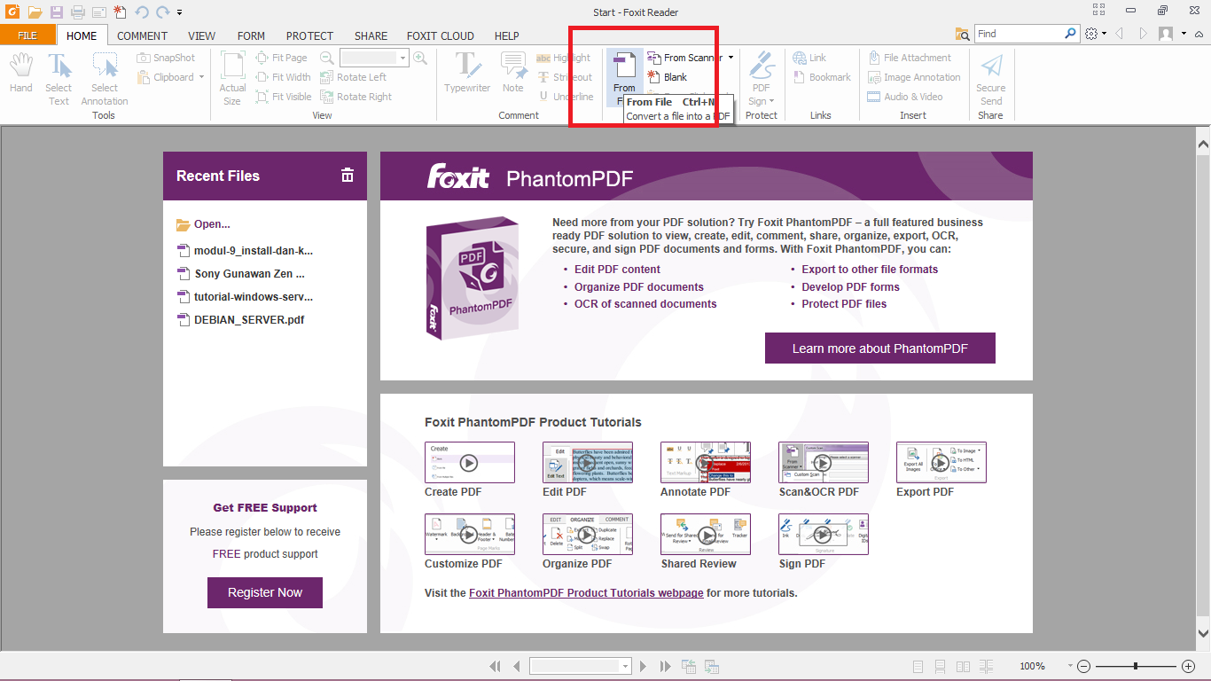 how to change foxit reader pdf to word