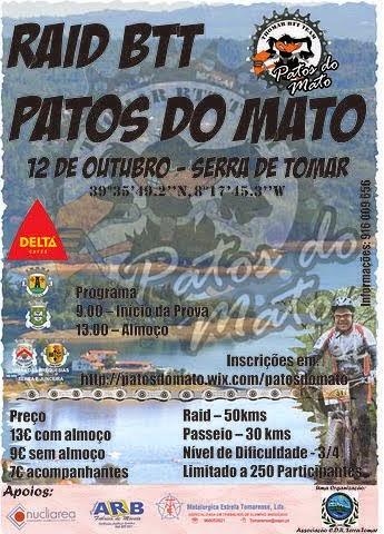 I RAID BTT PATOS DO MATO-SERRA DETOMAR