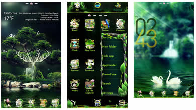 Theme Name : Forest GOLauncher EX Theme v1.6