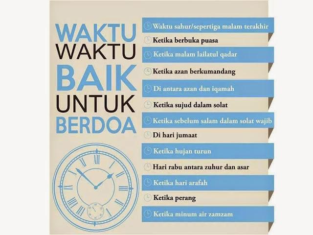 14 Waktu Yang Lebih Memudahkan Do'a Kamu Terkabul
