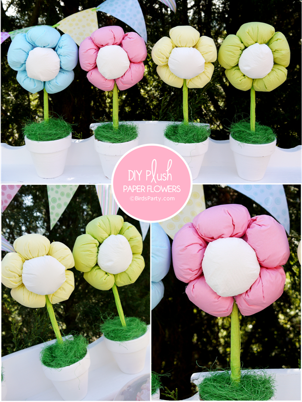 TUTORIAL: No-Sew, Express Plush Paper Flowers Made from Paper Napkins