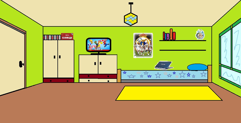 El blog de aar n dibujo de mi habitaci n - Como iluminar una habitacion ...