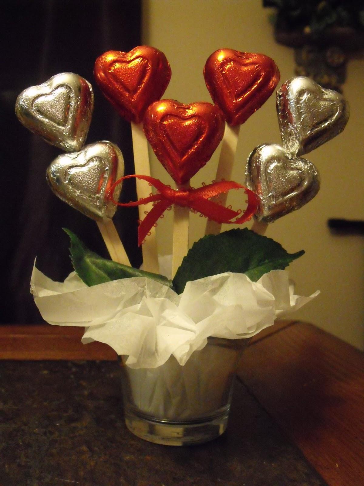 A Chocolate Bouquet Make An Adorable Little Chocolate Hearts Bouquet