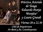 """Practica de Tango con Eduardo Pareja """"Parejita"""""""